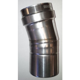 "Z-Flex Z-Vent 4"" x 15 Degree Elbow Stainless Steel Vent (2SVEEWCF0415)"