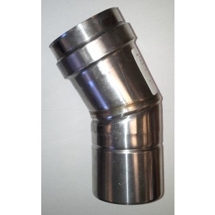 "Z-Flex Z-Vent 4"" x 30 Degree Elbow Stainless Steel Vent (2SVEEWCF0430)"