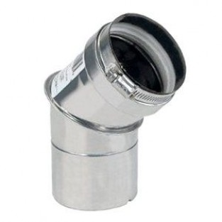 "Z-Flex 4"" x 45 Degree Elbow Stainless Steel Venting (2SVEEWCF0445)"