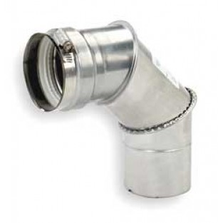 "Z-Flex 4"" x 90 Degree Elbow Stainless Steel Venting (2SVEEWCF0490)"