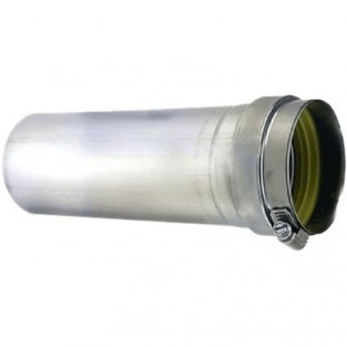 """Z-Flex Z-Vent 4"""" x 5' Stainless Steel Vent Pipe (2SVEPWCF0405)"""