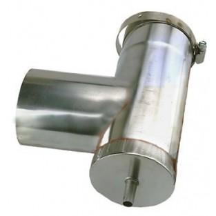 "Z-Flex Z-Vent 4"" Vertical Condensation Drain Tee (2SVEVWCF04)"