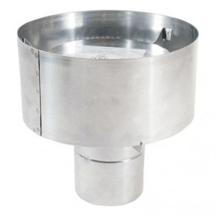 "Z-Flex 4"" Extreme Weather Rain Cap Stainless Steel Venting (2SVSHRC04)"
