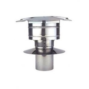 "Z-Flex Z-Vent 4"" Rain Cap Stainless Steel Venting (2SVSRCF04)"