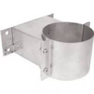 "Z-Flex Z-Vent 4"" Wall Support Stainless Steel Venting (2SVSWS04)"