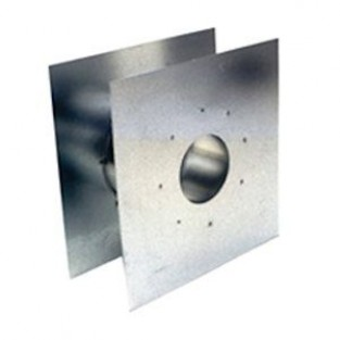 """Z-Flex Z-Vent 4"""" Wall Thimble Stainless Steel Venting (2SVSWTF04)"""