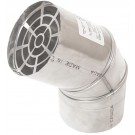"Z-Flex 3"" Termination Elbow Stainless Steel Venting (2SVSTEX0390)"