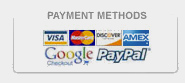 GlobalTowne accepts all major credit cards and supports Google Checkout and Paypal.